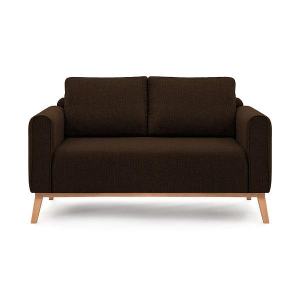 Ciemnobrązowa sofa dwuosobowa VIVONITA Milton