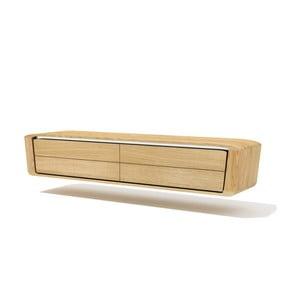 Półka ścienna pod TV z litego drewna dębowego Javorina Hang