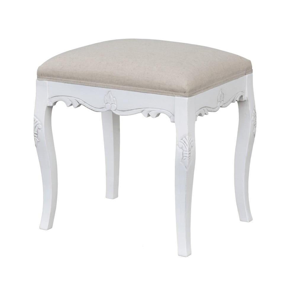 Biały stołek z drewna topoli Livin Hill Rimini