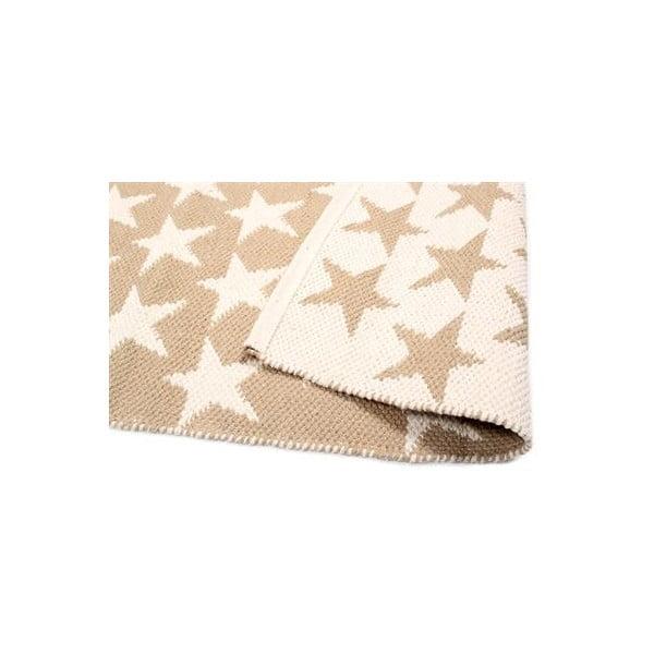 Dwustronny dywan Beige Stars, 135x65 cm