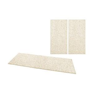 Zestaw 3 kremowych dywanów BT Carpet Wolly