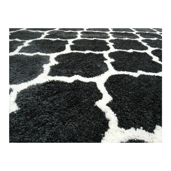 Ciemnoszary dywan Smooth, 80x150cm
