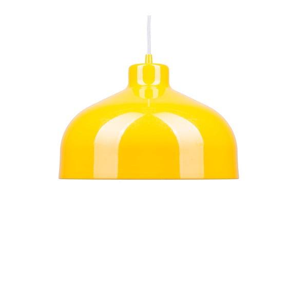 Żółta lampa wisząca Loft You B&B, 22 cm