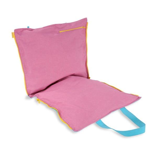 Przenośne siedzisko + torba Hhooboz 100x50 cm, turkusowe