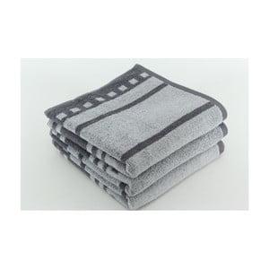 Zestaw 3 ręczników Capri Stone, 50x100 cm