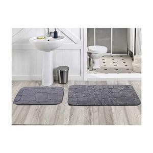 Zestaw 2 dywaników łazienkowych Dekoreko Gri, 50x60 cm + 60x100 cm