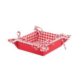 Koszyk na pieczywo Basic Hearts, czerwony