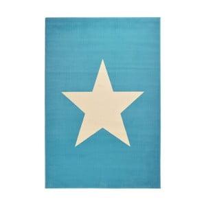 Dywan City & Mix - niebieski z gwiazdą, 140x200 cm