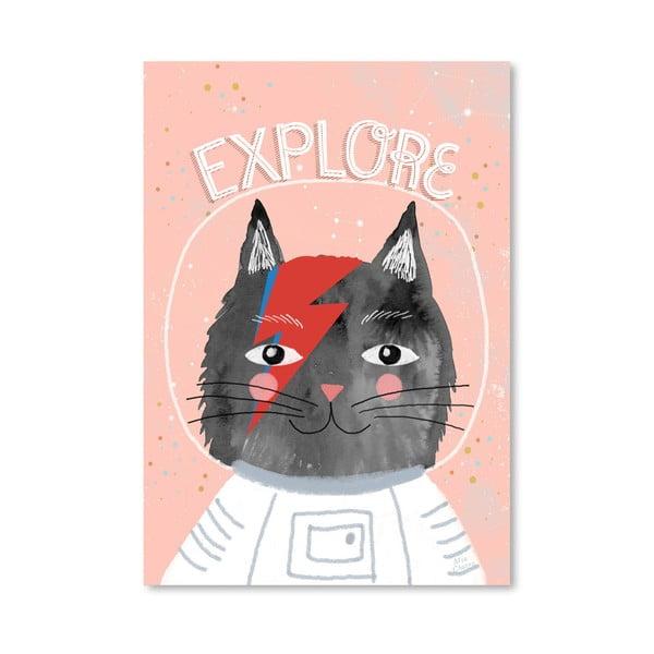 Plakat (projekt: Mia Charro) - Cat Astronaut