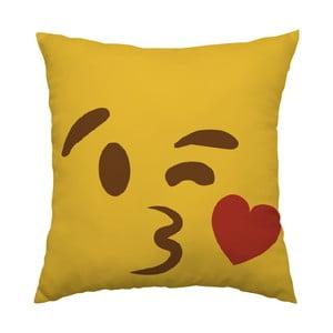 Poduszka Emoji Kiss, 40x40 cm