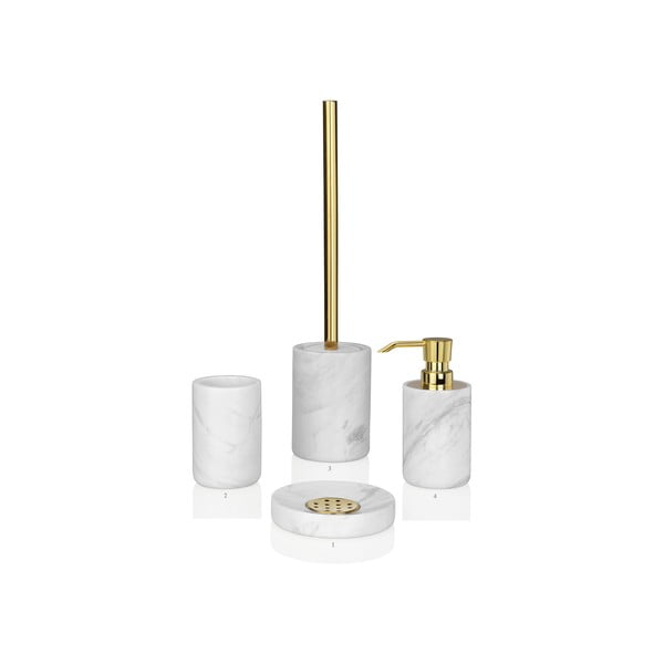 Szczotka do WC Marble Gold