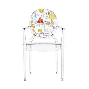 Przezroczyste krzesełko dziecięce Kartell Lou Lou Ghost Family House