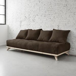 Sofa Senza Natural/Choco Brown