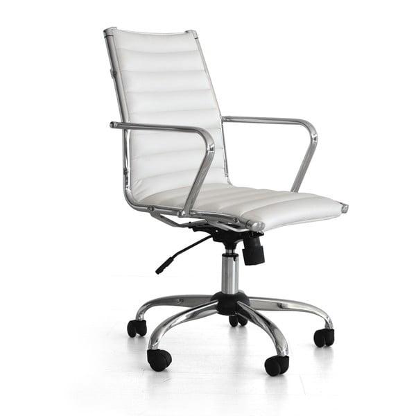 Krzesło biurowe na kółkach Pandora, białe