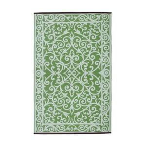 Miętowy dwustronny dywan zewnętrzny Green Decore Gala, 90x150 cm
