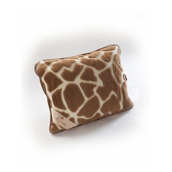 Brązowa poduszka wełniana Royal Dream Camel Shapes, 50x60 cm
