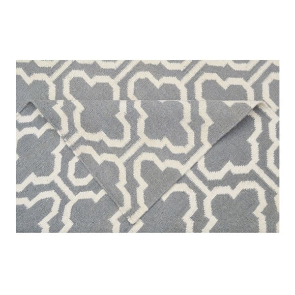 Wełniany dywan Penelope Grey, 140x200 cm