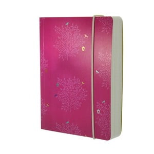 Notes A6 Go Stationery Cerise Trees