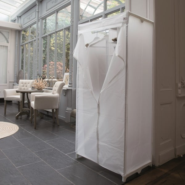 Biała szafa tekstylna Milky, 160x75 cm