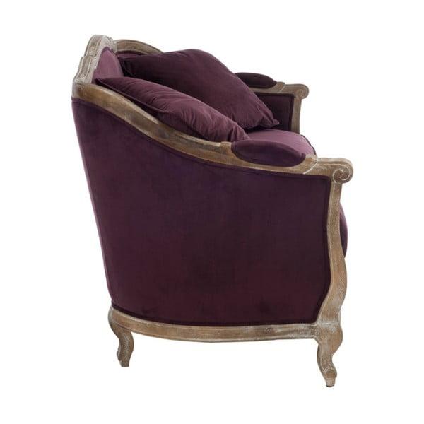 Bordowa dębowa sofa Aubergine