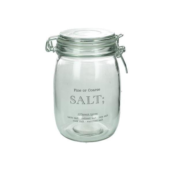 Szklany pojemnik na sól Salt