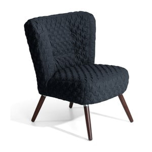 Czarny fotel Max Winzer Neele Structured