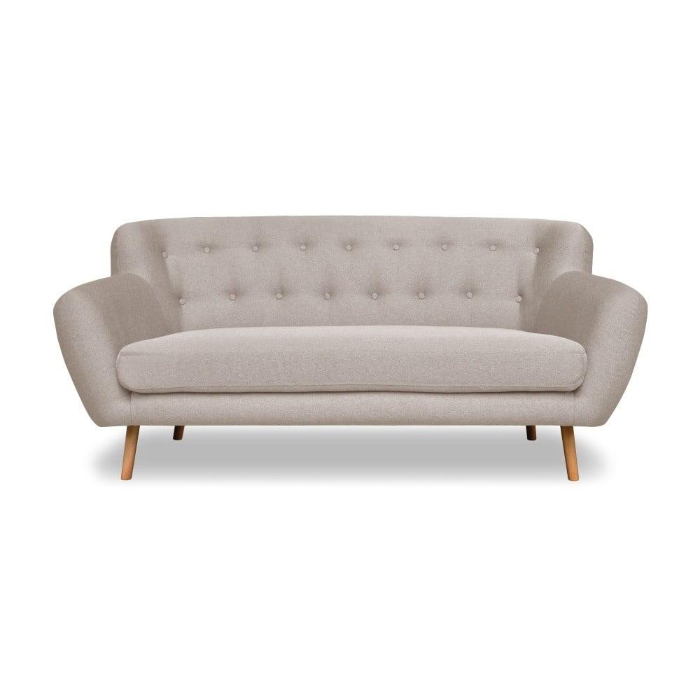 Szarobeżowa sofa Cosmopolitan design London, 162 cm