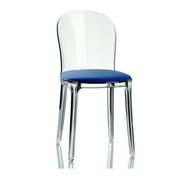 Krzesło Vanity, niebieskie siedzenie
