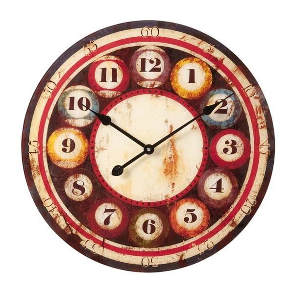 Zegar Vetro Biliardo, 57x57x1 cm