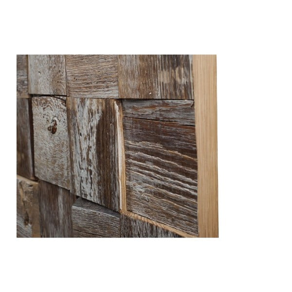 Dekoracja ścienna Wooden White, 60x90 cm