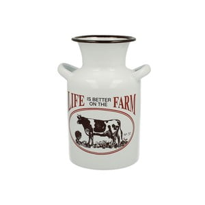 Emaliowany dzban na mleko Cow Farm