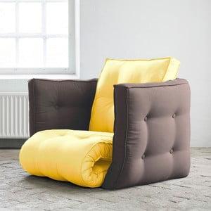 Fotel rokładany Karup Dice Amarillo/Gris