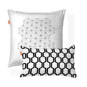 Zestaw 2 bawełnianych poszewek na poduszki Blanc Closer, 50x50cm