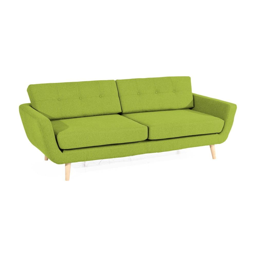 zielona sofa trzyosobowa max winzer melvin bonami. Black Bedroom Furniture Sets. Home Design Ideas