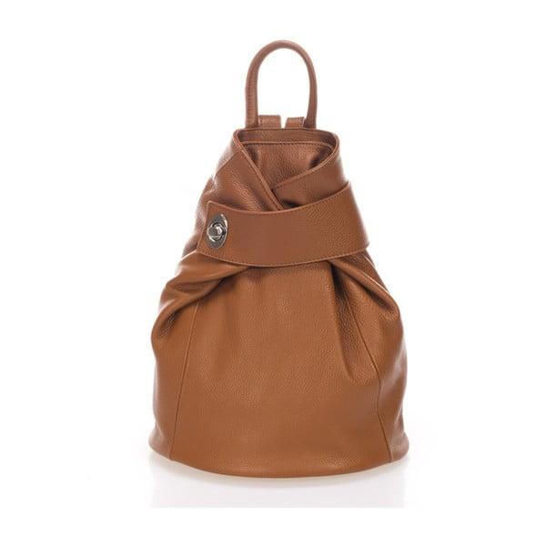 Karmelowy plecak skórzany Lisa Minardi Narni