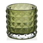 Szkany zielony świecznik Andrea House Greentea, 7 cm