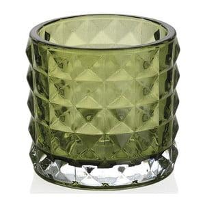 Zielony świecznik ze szkła Andrea House Greentea, 7 cm
