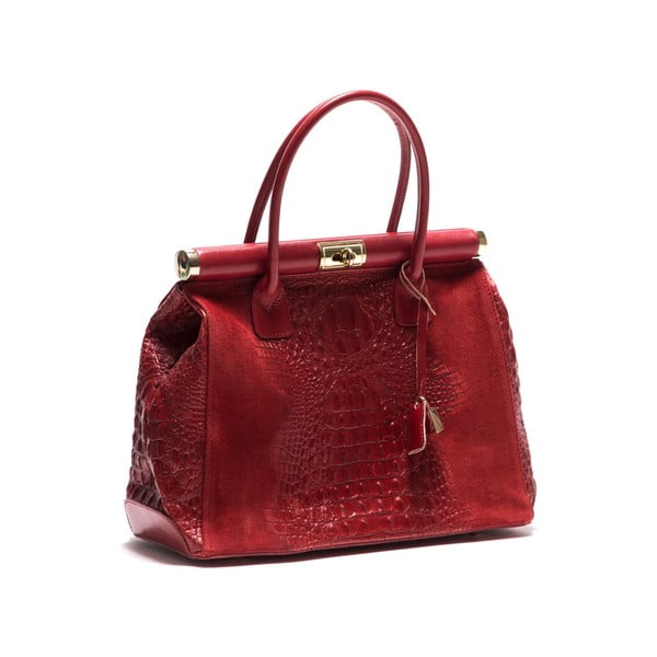 Skórzana torebka Anna Luchini 825 Red