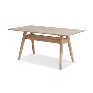 Stół wykonany ręcznie z litej brzozy Kiteen Notte, 75x140cm