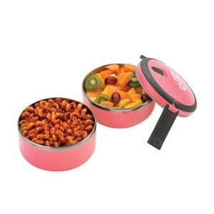 Różowy okrągły pojemnik na lunch Pioneer lunchbox