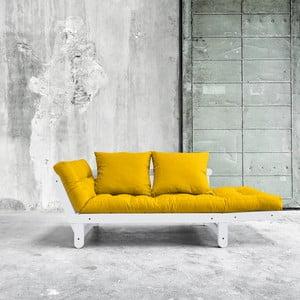 Sofa rozkładana Karup Beat White/Amarillo