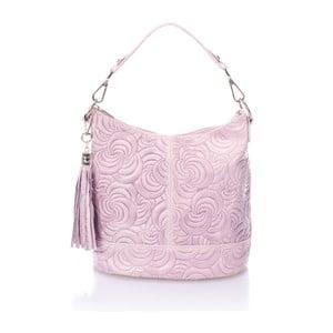 Różowa torebka skórzana Massimo Castelli Straps