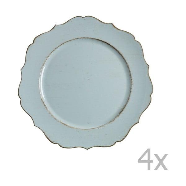 Zestaw 4 niebieskich talerzy Blasone
