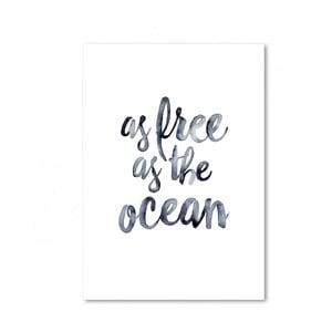 Plakat Leo La Douce As Free As The Ocean, 21x29,7 cm