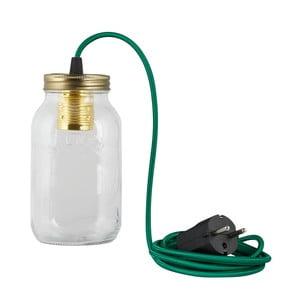 Lampa JamJar Lights, zielono-niebieski okrągły kabel