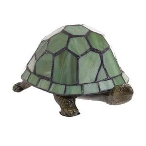Zielona lampa w kształcie żółwia z witrażem InArt Tortuga