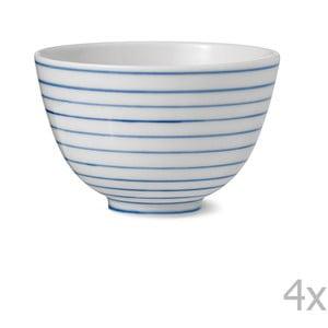 Zestaw 4 porcelanowych misek ręcznie robionych Anne Black Alais, wys. 9cm