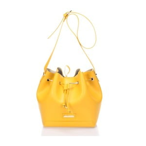 Skórzana torebka Krole Klara, żółta