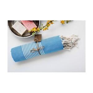 Ręcznik hamam Line Light Blue, 100x180 cm