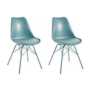 Zestaw 2 niebieskich krzeseł Støraa Lucinda